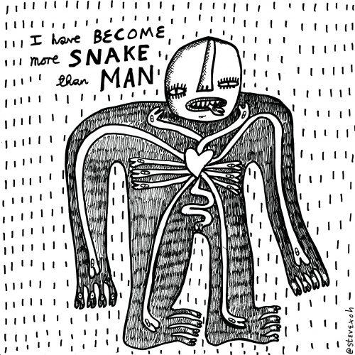 more snake than man